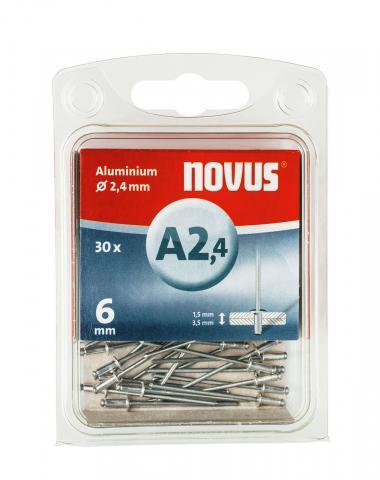 A 2,4 x 6 mm aluminium 30 stk.