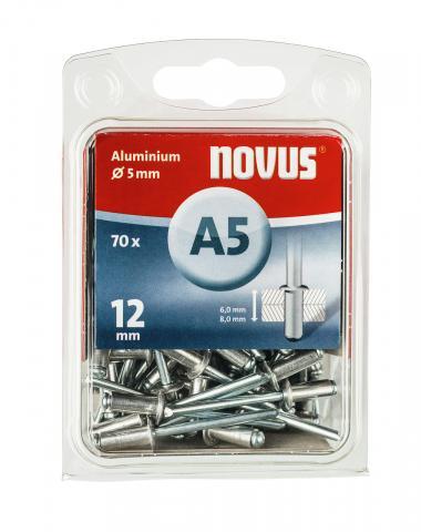 A 5 x 12 mm aluminium 70 pcs.