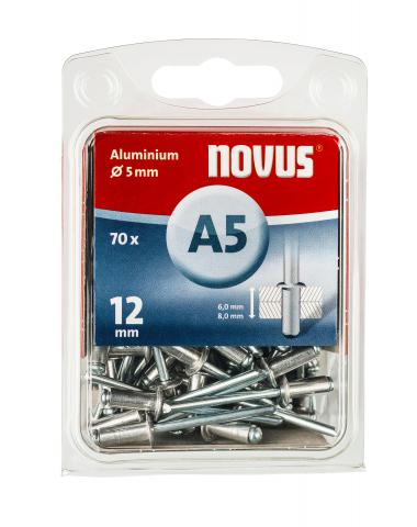 A 5 x 12 mm alluminio 70 pezzi