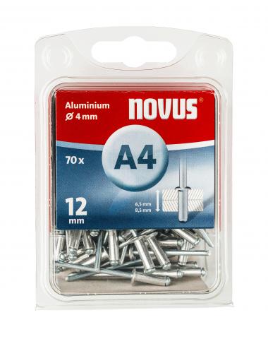 A 4 x 12 mm Aluminium 70 Stück