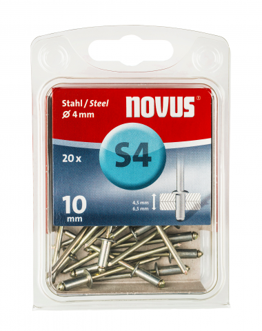 A 4 x 10 mm Staal 20 stk.