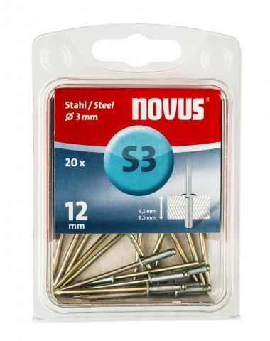 S 3 x 12 mm Stahl 20 Stück