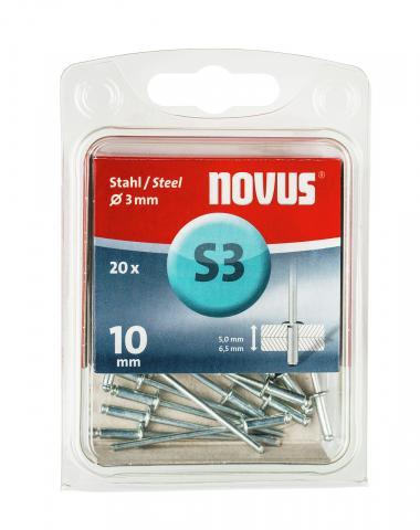 S 3 x 10 mm Stahl 20 Stück