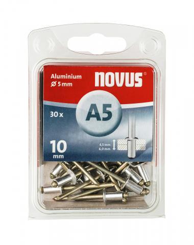 A 5 x 10 mm aluminium 30 stk. 30 st.