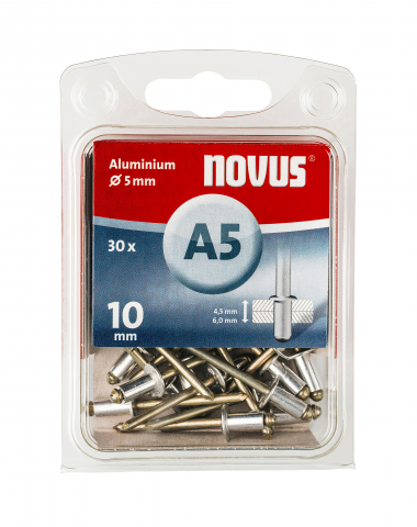 A 5 x 10 mm alluminio 30 pezzi 30 pz.