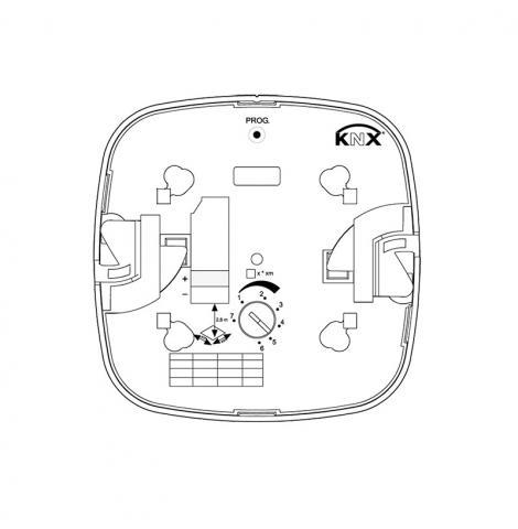 IR Quattro KNX - Concealed wiring