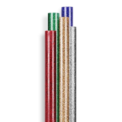 Glitter lijmpatronen Ø 7 mm 16 st. (96 g)