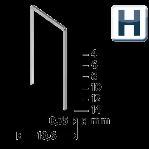 H Type 37/6 mm super hard galvanized 2000 pcs. 2000 ea.