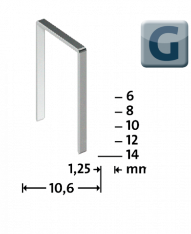 G Type 11/14 mm galvanized 600 pcs.