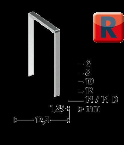 R Type 50/14 mm Verzinkt 960 stk.