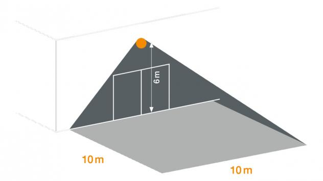 XLED PRO Square eNet - weiß