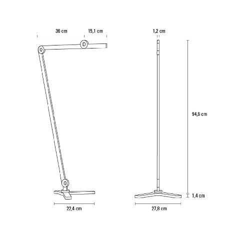 MOOOVE floor lamp Anthracite