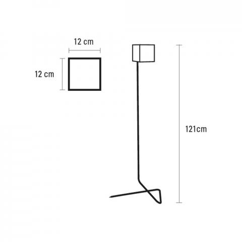 EYES Standleuchte 121 cm