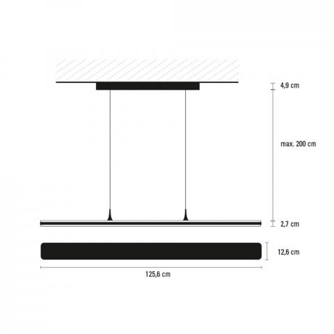 TOUCH 125 cm Bedienfeld oben